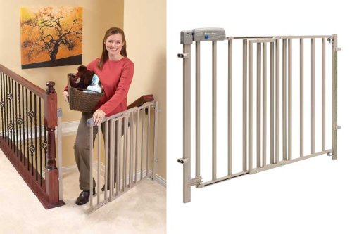 Evenflo Secure Step Top Of Stair Gate   Taupe