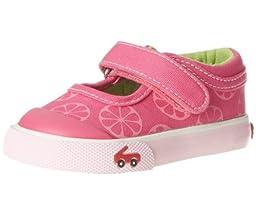 See Kai Run Angela Sneaker (Infant/Toddler),Hot Pink,3 M US Infant