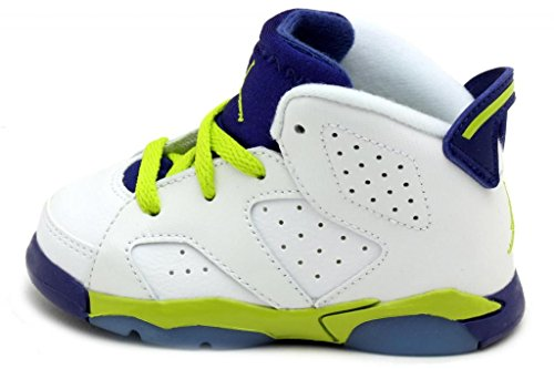 Nike Jordan 6 Retro GT White/Deep Blue/Hyper Pink/Fierce Green 645127-108 (SIZE: 7C)