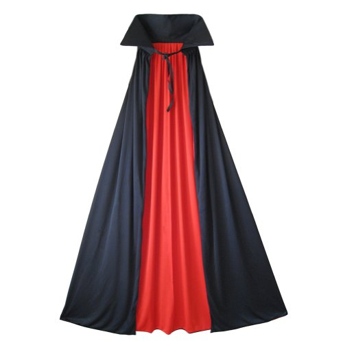 "54"" Fully Lined Deluxe Vampire Cape II ~ Halloween Costume Accessories (STC11509-L)"