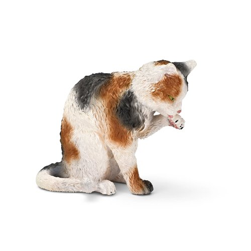 Schleich Grooming Cat Toy Figure - 1