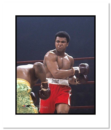 All About Autographs AAA-11558m Muhammad Ali Boxing Double Matted 8x10 Photograph vs Joe Frazier I