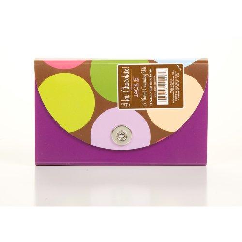 Carolina Pad Hot Chocolate 13-Pocket Coupon Organizer Circle Design, 1.25 x 6.75 x 3.75 Inches (15013)