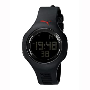 PUMA Unisex PU910801005 Loop Black Digital Watch