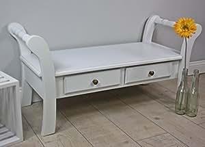bank holzbank holz wei antik landhaus sitzbank kinderbank hocker sitzhocker neu. Black Bedroom Furniture Sets. Home Design Ideas
