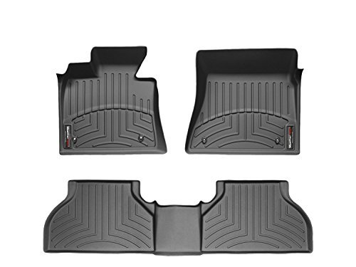 2015-2016 Chevrolet Silverado Crew Cab WeatherTech Front and Rear Floor Mat / Liner Set - Black (Weathertech Floor Mats Sierra compare prices)