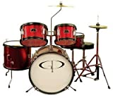 GP Percussion GP55WR 5-Piece Junior Drum Set with Cymbals and Picture