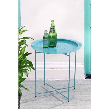 Sunjoy 110206035-B Side Table with Removable Tray Blue (Expresso Tower compare prices)