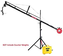 12ft Camera Crane Jib Jerk free Remote Motarized Head Tripod Stand Power pack for Movie Video Making Shooting Wedding Photography