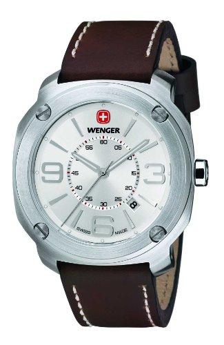 wenger 011051101 - Reloj de pulsera hombre, piel, color marrón