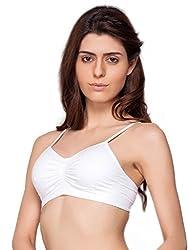 C9 Seamless White Basic Bra For Women's