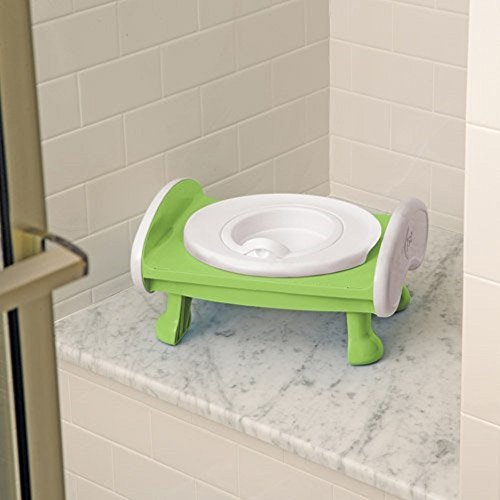 Safety 1St Gotta Go Now Travel Potty Trainer Green front-942427