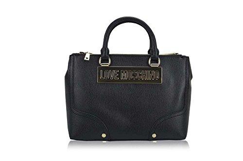 Love Moschino Top Handle Handbags Saffiano Black