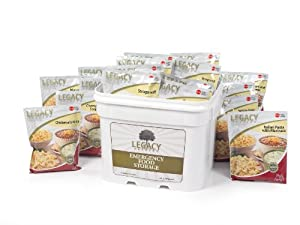 Gourmet Survival Home Food Storage - 120 Large Servings Meal Assortment:31 Lbs... by Legacy Premium Food Storage