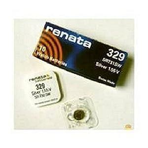 3 x Renata 329 Pila de Reloj Hecho En Suiza Plata Óxido 1.5 v También = SR731SW, V329, D329, GP329, 329 de Renata