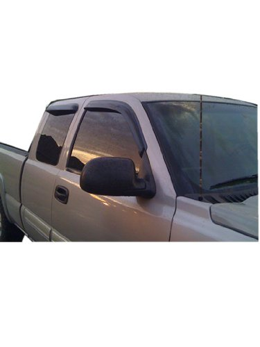 Chevy Silverado GMC Sierra Extended Cab Vent Window Shades Visors Rain Guards 99 00 01 02 03 04 05 06 (Extended Cab Window Latch compare prices)