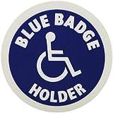 Disabled Cling Sign - Round: Blue Badge Holder