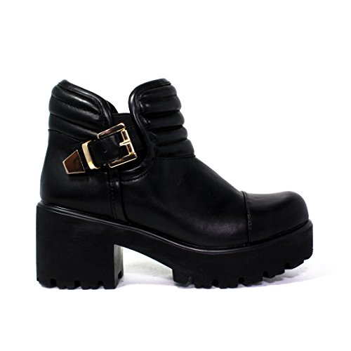 FORNARINA BOTTINE TALON HAUT CUIR 8849WJA000 Francesina FEMME AUTOMNE HIVER 2015 - 2016 MADE IN ITALY NOUVELLE COLLECTION 15/16 AW