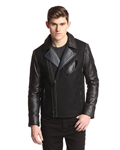 Daniel Won Men's Bon Mix Media Jacket with Zip Off Sleeves