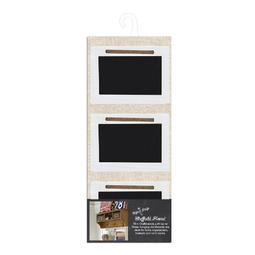 "Sheffield Home Hanging Wooden Chalkboard Signs with Twine (Set of 3) 4"" x 2.5"""