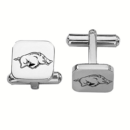 Arkansas Razorbacks Stainless Steel Square Cufflinks