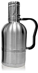 LovIT Scientific Stainless Steel Beer Growler (Stainless 64oz German Double Wall)