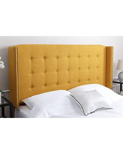 Abbyson Living Callista Tufted Headboard, Yellow, Full/Queen