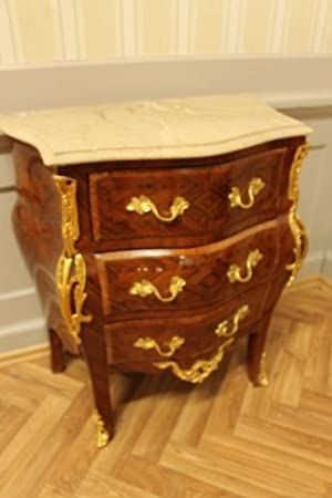 baroque chest of drawers superb veneer with marble