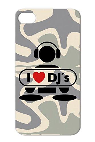 Tpu Red For Iphone 4S Rap Music Scratching Beat Battle Vinyls Music Mic Dj Miscellaneous Breakdance Heart Note Talent Love Hip Hop Disco Mc Old School Party Graffiti Vinyl Record Headphones Freestyle Dj F2 Protective Case