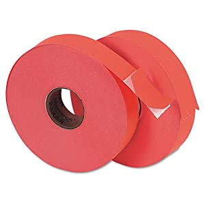 Monarch PAXAR One-Line Pricemarker Labels, 3/4 x 1-1/4, Fluorescent Red, 1,000 labels per Roll, 2 Rolls per Pack (925561)