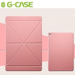G-CASE [Milano Series] Ultra Slim Lightweight Stand Smart Cover with Auto Sleep/Wake Function Folio Book Slip Case for Apple iPad Mini 4 (Pink)