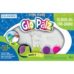 Colorbok Plaster And Clay Figurine Kits Bugs Glo Palz; 3 Items/Order