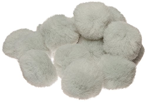 "Creativity Street Pom Pons 50-Piece x 1"" Gray - 1"