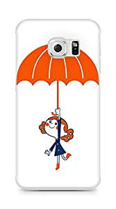 Amez designer printed 3d premium high quality back case cover for Samsung Galaxy S6 Edge (Cute girl)