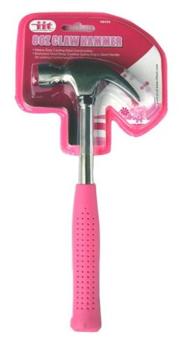 IIT-88400-Ladies-8-Ounce-Claw-Hammer-Pink