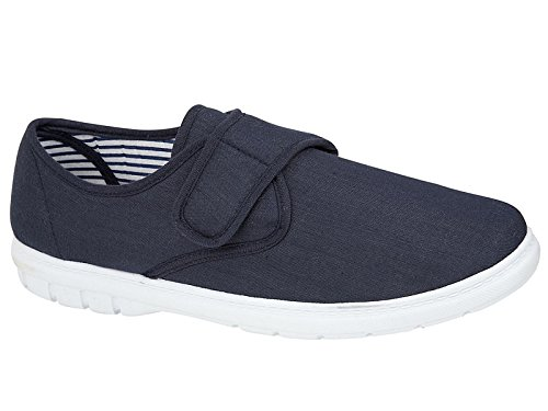 mens-shoe-tree-wider-fitting-casual-canvas-velcro-fastening-pump-trainer-deck-shoes-loafer-navy-10-u