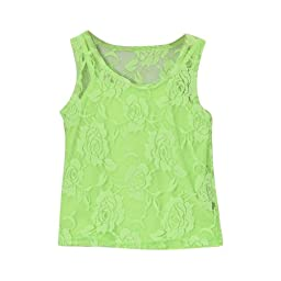 Lime Green Girls Lace Tank & Camisole, Size 8