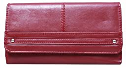 Travelsky 13589-02 RFID Blocking Women\'s Wallet (type II:3-fold, red)