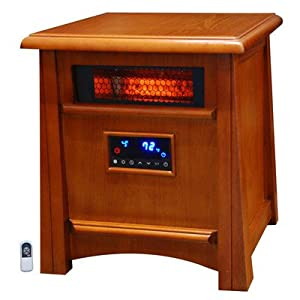 Lifesmart Ultimate 8 Element 1800 Square Foot Infrared Heater W/ Air Ionizer System Deluxe All Wood Cabinet & Remote by Lifesmart