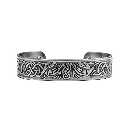 Accents Kingdom Silver Phoenix Magnetic Therapy Celtic Copper Cuff Bracelet - Accents Kingdom