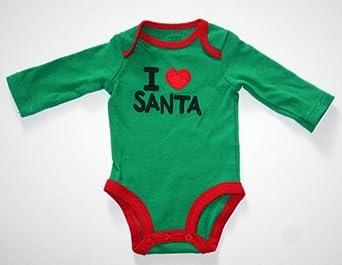 Andrepifsg Carter S Baby Unisex I Love Santa Bodysuit