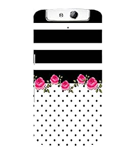 Abstract Floral Painting Cute Fashion 3D Hard Polycarbonate Designer Back Case Cover for Oppo N1