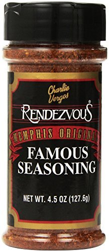 Charlie Vergos Rendezvous Famous Memphis Barbecue Dry Rub Seasoning (4.5 oz) by Rendezvous BBQ Sauce (Rendezvous Seasoning compare prices)