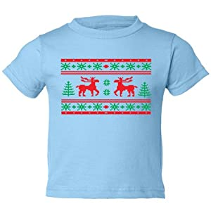 So Relative! Toddler Shirts - Ugly Christmas Sweater (Moose Design) - Gift Short Sleeve Toddler T-Shirt (Assorted Colors & Sizes)