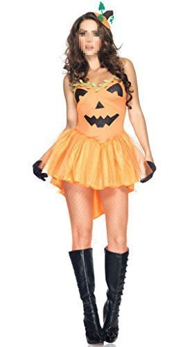 [GuPoBoU168 Women's Holloween Pumpkin Costume Cosplay Party Adult] (Holloween Spirits Costumes)