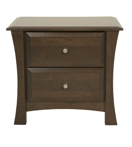 Offspring Kenora 2 Drawer Bookcase, Cocoa