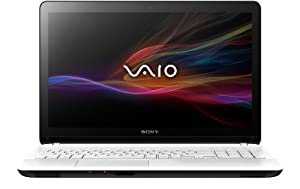 Sony VAIO SVF1521C6EW 39,5 cm (15,5 Zoll) Notebook (Intel Pentium 2117U, 1,8Ghz, 4GB RAM, 500GB HDD, Intel HD und NVIDIA GF GT 740M (1GB), DVD, Win 8) weiß
