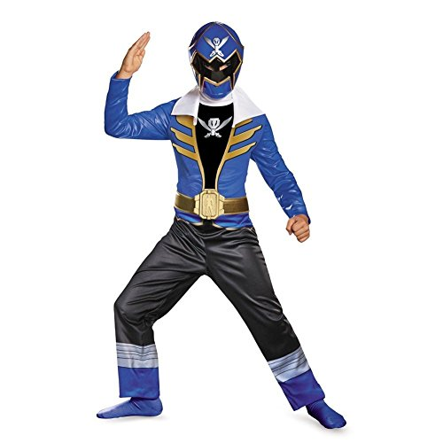 Disguise Saban Super MegaForce Power Rangers Blue Ranger Classic Boys Costume, Medium/7-8 (Power Rangers Blue Costume compare prices)
