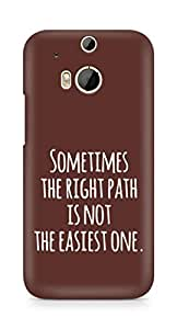 AMEZ the right path is not easy Back Cover For HTC One M8