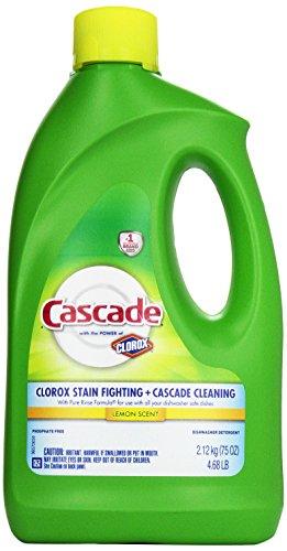Cascade Gel Dishwasher Detergent, Lemon, 75 oz (Cascade Liquid Dishwasher compare prices)